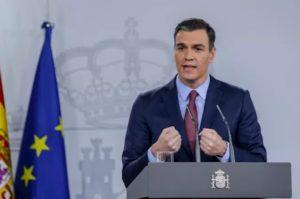 El presidente del Gobierno, Pedro Sánchez, analiza el impacto del coronavirus tras una reunión extraordinaria por videoconferencia del Consejo Europeo