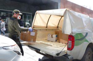 Agentes medioambientales reparten kits coronavirus en hospitales de CL-M