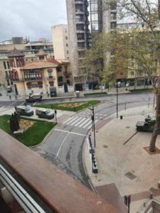 Ejército en la avenida de España